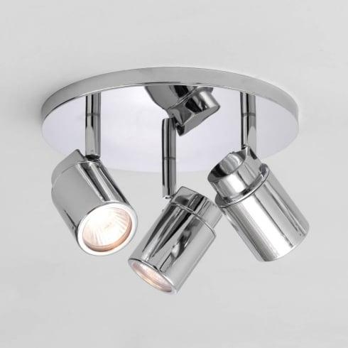 Astro Como Triple Round Spotlight Polished Chrome