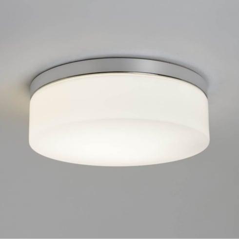 Astro Sabina 280 Round Flush Ceiling Light Polished Chrome