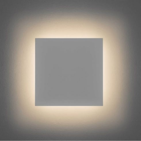 Astro Lighting Eclipse Square 300 7610 Unswitched White Plaster Finish Surface Wall Light