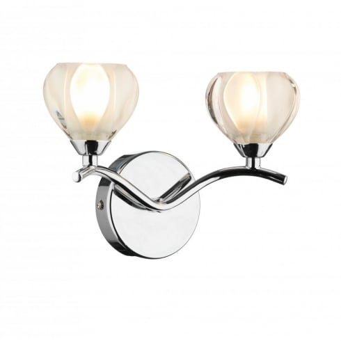 Dar Lighting Cynthia CYN0950 Polished Chrome 2 Light Wall Fitting