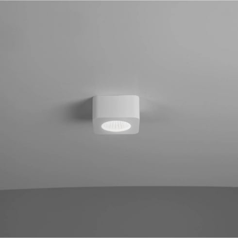 Astro Lighting Samos Square 7473 White Square Surface LED Under Cabinet Downlight