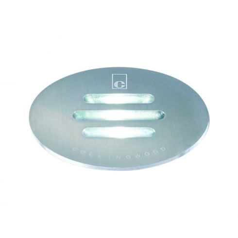 Collingwood Lighting GL021 WARM WHITE Stainless Steel Slotted LED Ground Light