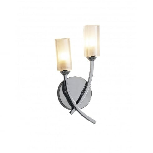 Dar Lighting Morgan MOR0950 Polished Chrome 2 Light Wall Fitting