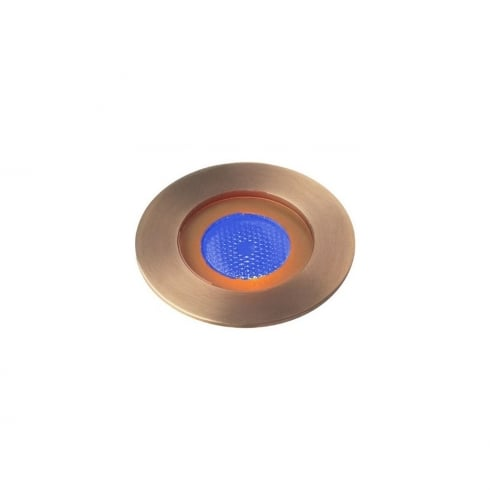 Collingwood GL016 F AB BLUE Antique Brass LED Ground Light