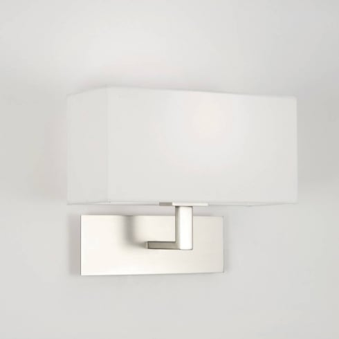 Astro Lighting Park Lane Wall 0763 Matt Nickel Surface Wall Light with White Shade