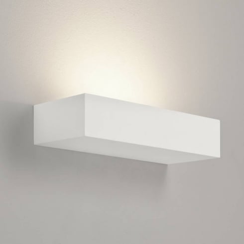 Astro Lighting Parma 200 7038 White Wide Plaster Surface Wall Light