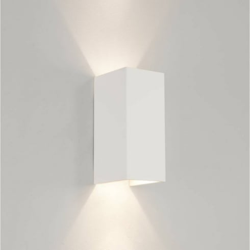 Astro Lighting Parma 210 0964 Plaster Finish Rectangular Surface Wall light
