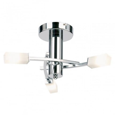 Endon 146-3CH Chrome Semi Flush Ceiling Light