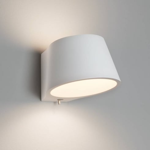 Astro Koza Switched Surface Wall Light Plaster