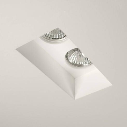 Astro Blanco Twin fixed Plaster Downlight/Recessed Spotlight