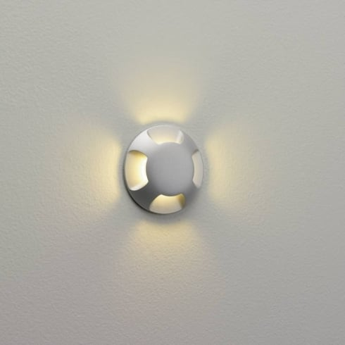 Astro Beam Outdoor Flush Four Light Painted Silver LED Ground or Wall Light IP67