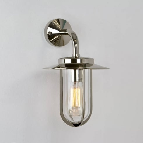 Astro Montparnasse Outdoor Surface Wall Light Polished Nickel
