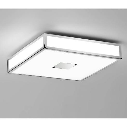 Astro Mashiko 400 Square Flush Ceiling Light Polished Chrome