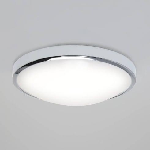 Astro Osaka 350 Round LED Flush Ceiling Light Polished Chrome