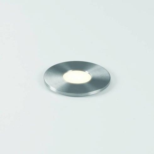 Astro Terra 28 Round LED Walkover Ground Light Stainless Steel IP65