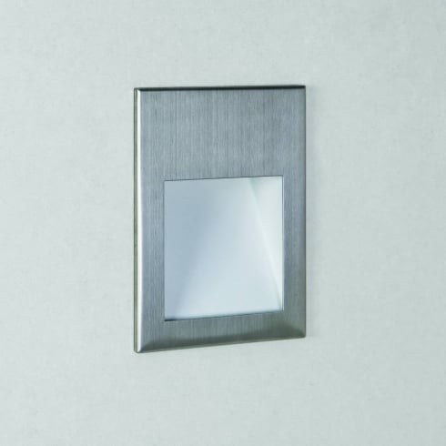 Astro Borgo 54 LED Recessed Wall Light Brushed Stainless Steel