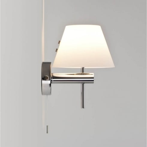 Astro Roma Switched Surface Wall Light Polished Chrome