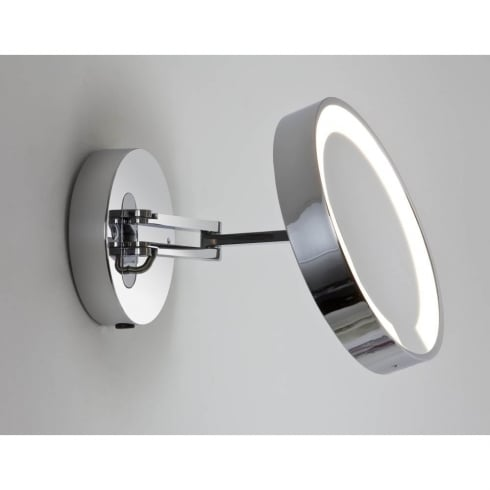 Astro Catena Magnifying Mirror Light in Polished Chrome