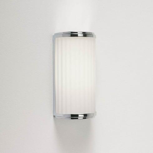 Astro Monza Bathroom Wall Light Polished Chrome Opal Diffuser