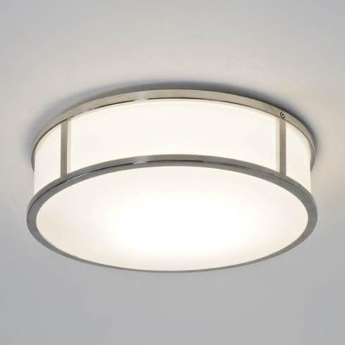 Astro Mashiko 300 Round Flush Ceiling Light Polished Chrome