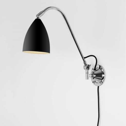Astro Lighting Joel Grande Wall 7252 Switched Black Finish Surface Wall Light
