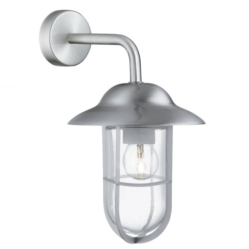 Searchlight Toronto Outdoor Surface Wall Light 3291SS Satin Silver