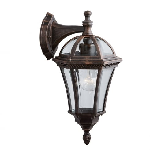 Searchlight Capri 1563 Outdoor Surface Wall Light Weathered Brown