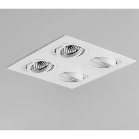 Astro Lighting Taro Quad 5663 White Quadruple Adjustable GU10 Recessed Downlight 230V