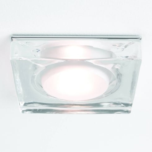 Astro Vancouver Square GU10 Shower Downlight Glass Chrome IP65