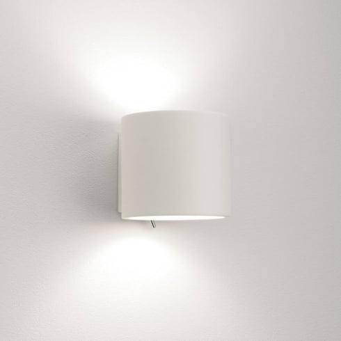 Astro Brenta 130 Switched Surface Wall Light Plaster