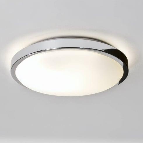 Astro Denia Flush Ceiling Light Polished Chrome