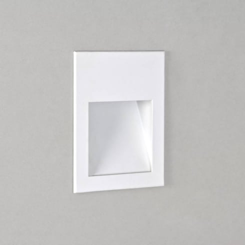 Astro Borgo 90 Square Recessed LED Wall Light Matt White