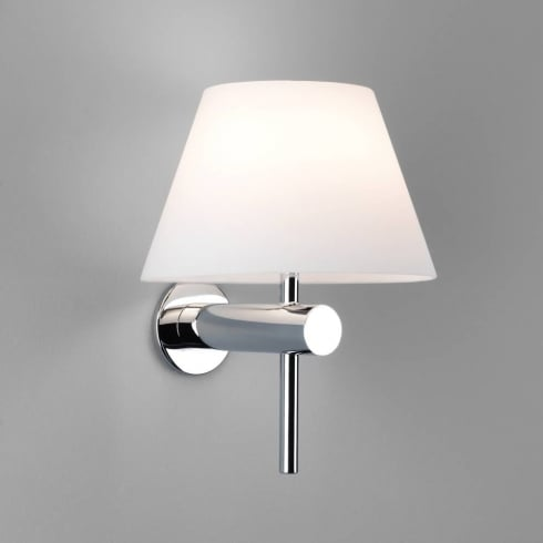 Astro Roma Surface Wall Light Polished Chrome and Opal Diffuser