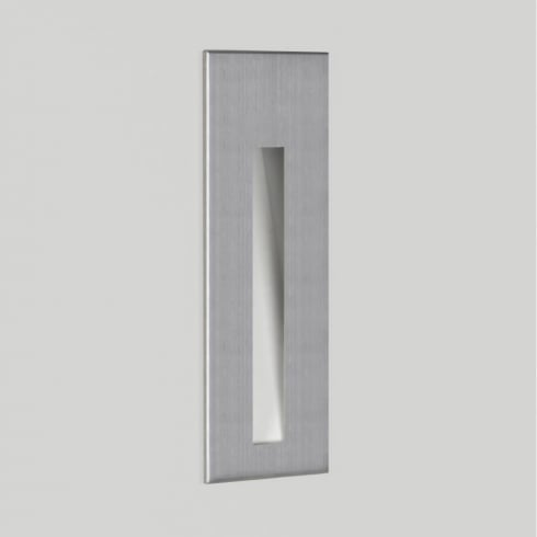 Astro Borgo 55 LED Recessed Wall Light Brushed Stainless Steel