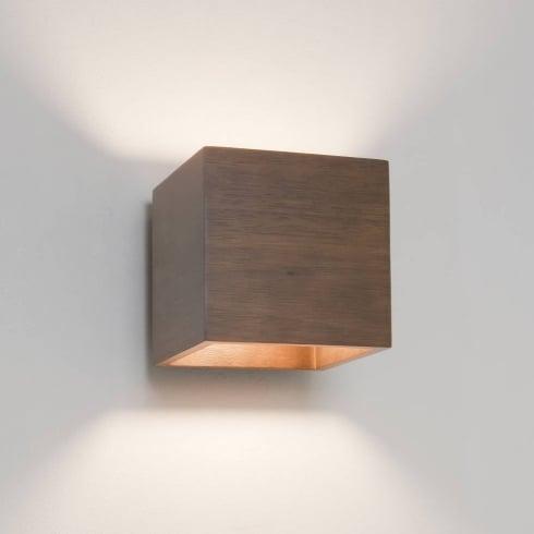 Astro Cremona Surface Wall Light Walnut