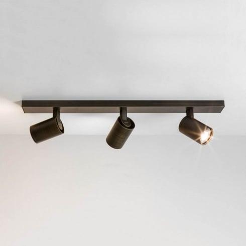 Astro Ascoli 1286005 Triple Bar Spotlight Ceiling Light Bronze
