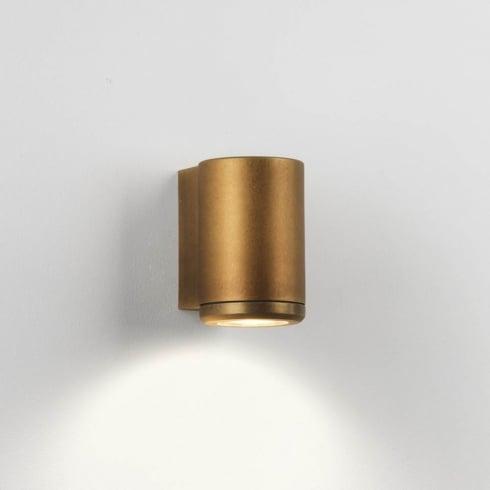 Astro Jura Single Outdoor Surface Wall Light Coastal Brass