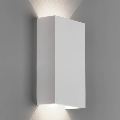 Astro Rio 125 LED Surface Wall Light White Plaster