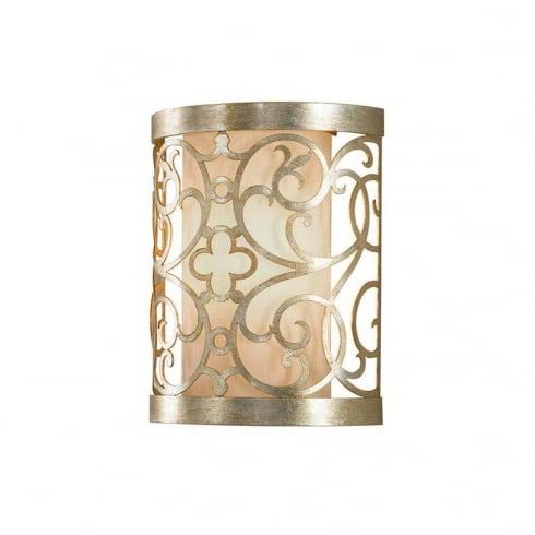 Elstead Arabesque 1 Light Surface Wall Light Silver
