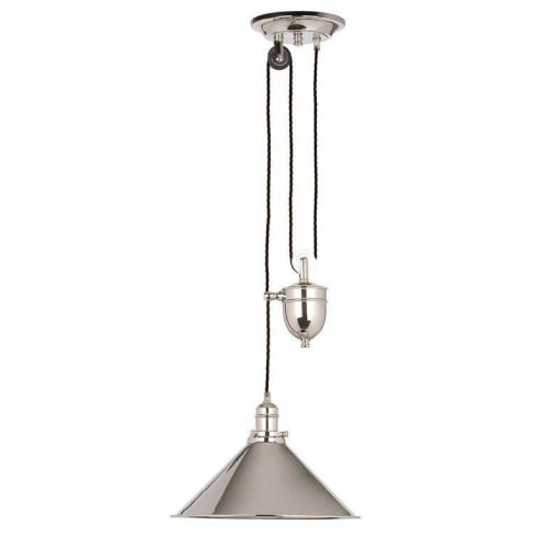 Elstead Lighting Provence 1 lt Rise and Fall Pendant Polished Nickel PV/P PN