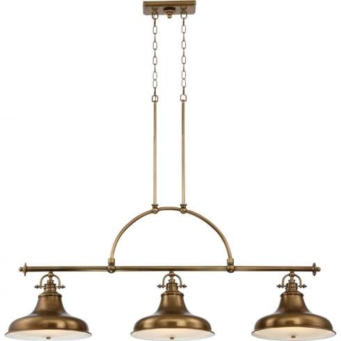 Elstead Emery 3 Light Island Light Weathered Brass