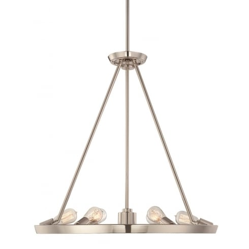 Elstead Lighting Theater Row 6Lt QZ/THEATERROW6IS Pendant Ceiling Light