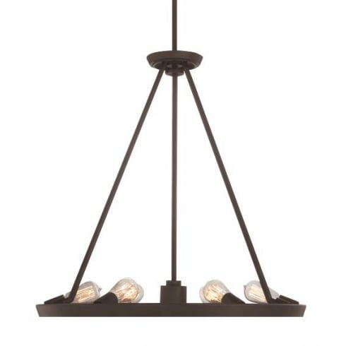Elstead Lighting Theater Row 6Lt QZ/THEATERROW6WT Pendant Ceiling Light