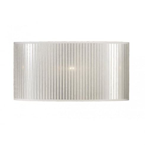Elstead Lighting Silver Striped Oval Shade 40cm