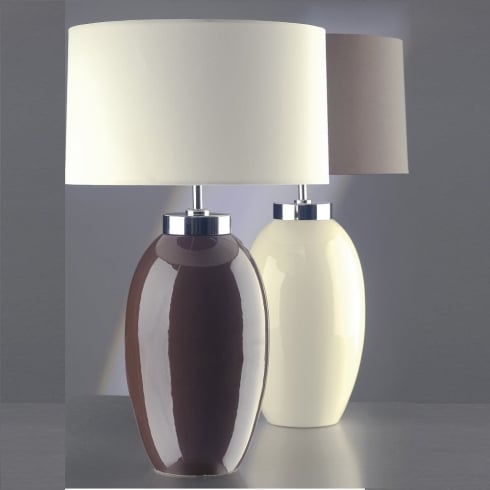 Elstead Lighting Victor Brown Table Lamp Small