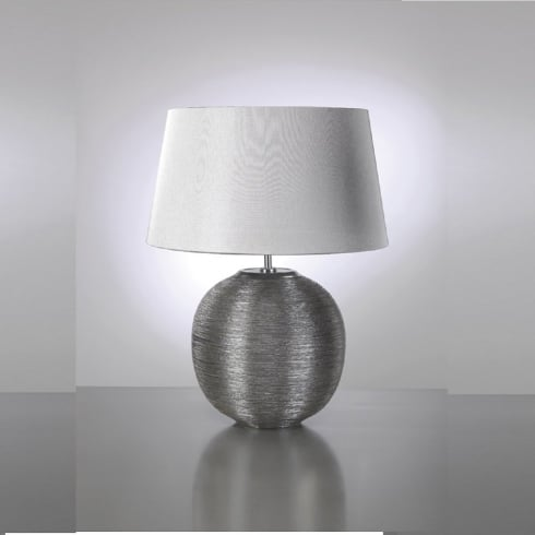 Elstead Lighting Caesar Silver Table Lamp