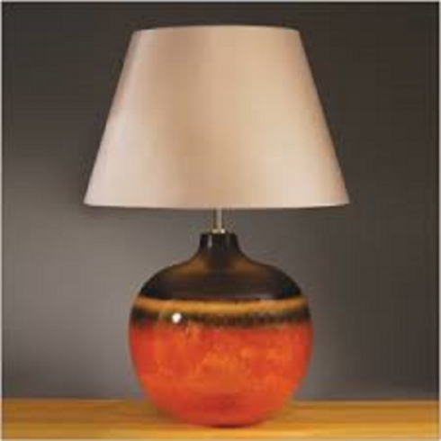 Elstead Lighting Colorado Brown & Orange Table Lamp Large