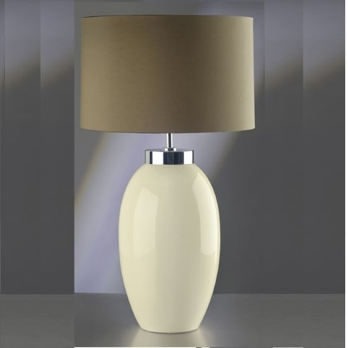 Elstead Lighting Victor Cream Table Lamp Large