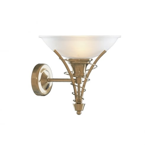 Searchlight Linea 5227AB Antique Brass With Opal Glass Shade Wall Light