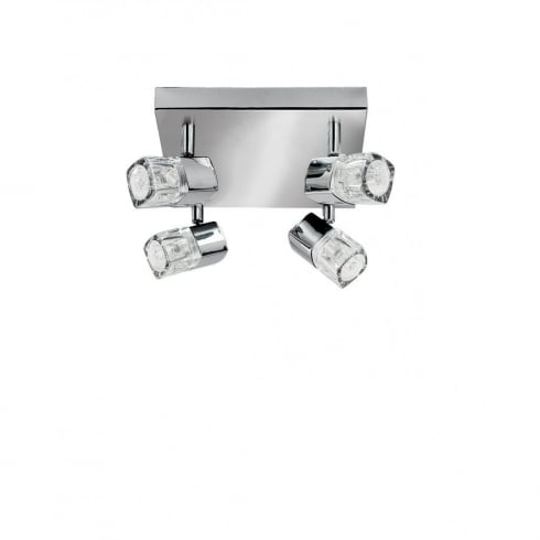 Searchlight Electric Blocs 7884CC Chrome 4 Light Bar Ceiling Spot Light